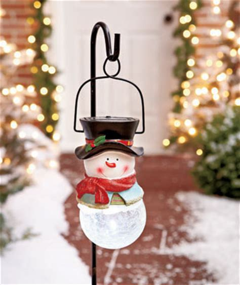 solar snowman stake set  commodities