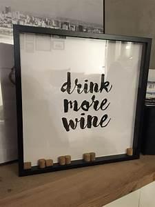 Ribba Rahmen Ikea : diy drink more wine bild ikea ribba rahmen hack weinkorken besta sideboard korken basteln ~ Orissabook.com Haus und Dekorationen