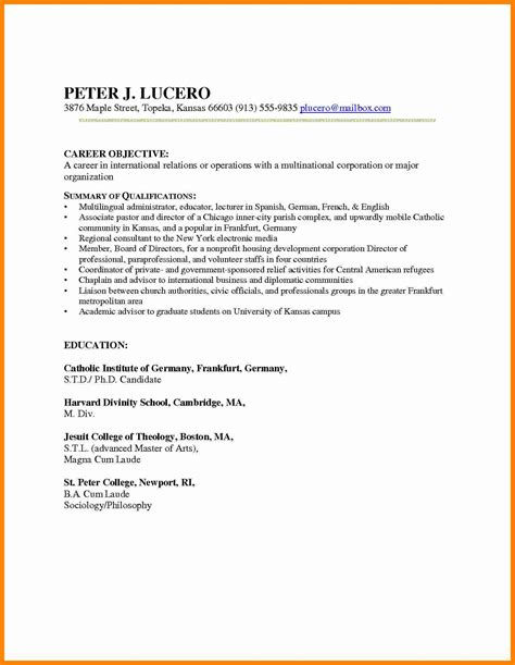 Ma Resume Objective Exles by Supply Technician Resume Sle Truck Driver