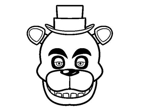 Golden Freddy Kleurplaat by Golden Freddy Coloring Pages Coloring Pages