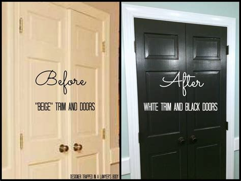 best paint for trim and doors black doors and white trim easy project big impact