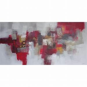 Grand Tableau Blanc : tableau peinture horizontal tr s grande taille 200x100 cm ~ Teatrodelosmanantiales.com Idées de Décoration