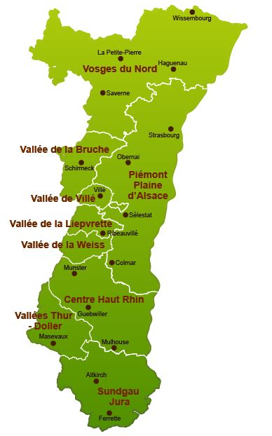 chambre agriculture 07 forestiers d 39 alsace la carte des forêts alsaciennes