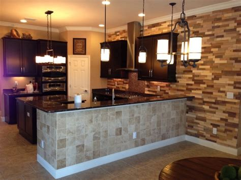 accent wall in kitchen kitchen remodel wood accent wall contemporary kitchen ta by ta tile center