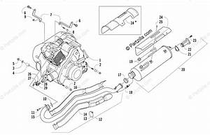 Arctic Cat Atv 2006 Oem Parts Diagram For Engine And Exhaust