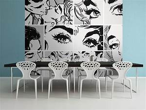 Black And White Pop Art Wall Mural
