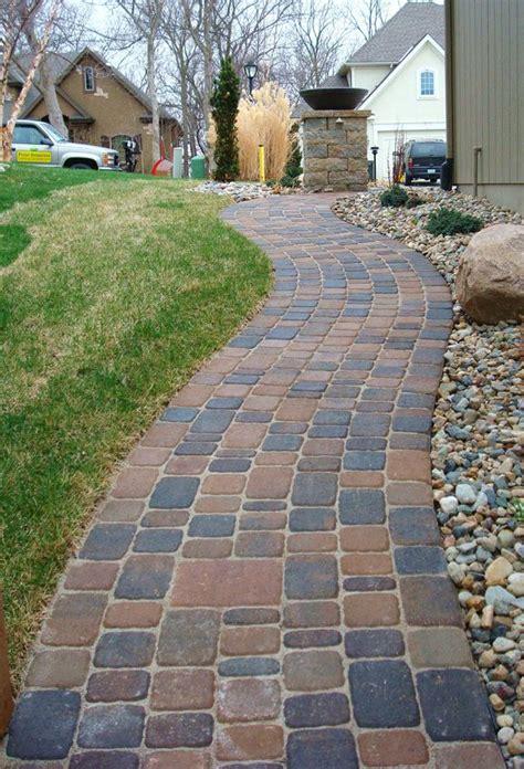 paver front walkway paver walkway next to rock garden front yard pinterest gardens paver walkway and walkways