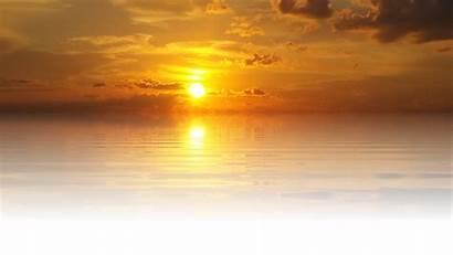 Sunset Sun Nature Sea Lake Isolated Transparent