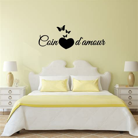sticker citation chambre sticker citation chambre coin d 39 amour stickers citations
