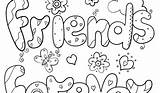 Coloring Pages Friend Friends Forever Print Getdrawings Printable Getcolorings sketch template