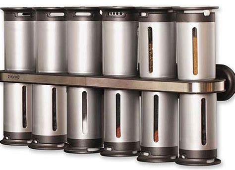 Wall Mount Spice Rack With Jars by Wall Mount Spice Rack 12 Canisters Zevro Spice Jars