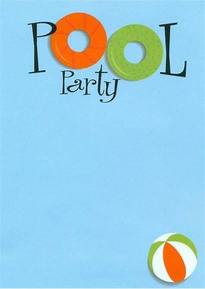 Pool Party Invitations Swimming Birthday Invitation Blank