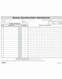 smed quick changeover setup combination worksheet With smed template
