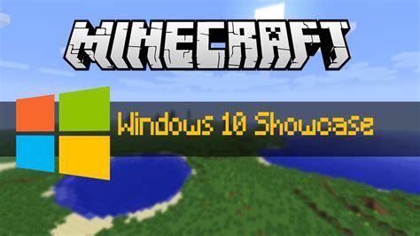 Minecraft Windows 10 Minecraft Showcase Review Youtube