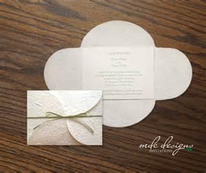 plantable wedding invitations diy mulberry petalfold wedding invitation