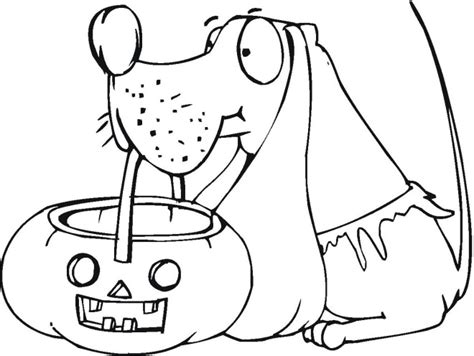Halloween Puppy Coloring Page