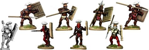 Tribal Warrior Boats by More Tribal Warriors With Feathered Headdress