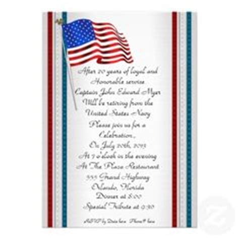 military retirement invitation template images