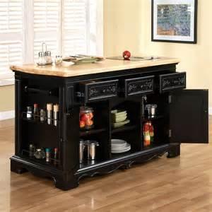 kitchen island set powell pennfield 3 kitchen island set in black beyond stores