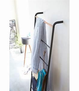 Echelle Porte Vetement : chelle d corative portant en bois noir ~ Nature-et-papiers.com Idées de Décoration