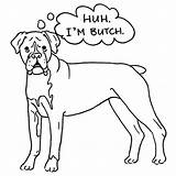 Boxer Coloring Dog Pages Butch Puppy Drawing Template Adult Cute Sheet Getdrawings Popular Sketch Place Coloringhome Templates sketch template