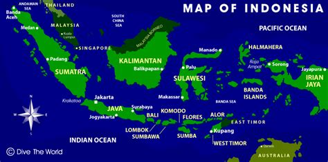 map  indonesia dive  world indonesia