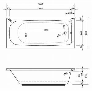 Badewanne 180x80 Mit Wannenträger : rechteck badewanne 180 x 80 cm mit wannentr ger ablaufgarnitur ~ Lizthompson.info Haus und Dekorationen