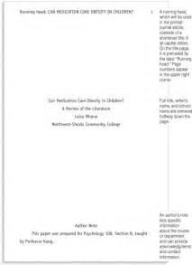Sample APA Format Example Paper