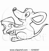 Cheese Mouse Macaroni Clipart Holding Coloring Illustration Royalty Dero Vector Getcolorings Printable Getdrawings sketch template