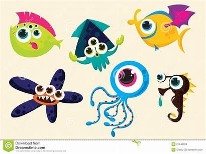 Creatures Weird Underwater Strange Clipart Royalty Clipground