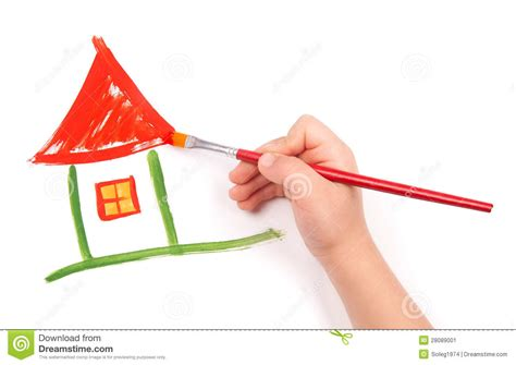 home design graph paper child draw a home stock image image 28089001