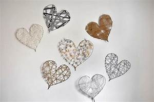 Diy heart art decorations for valentine s day