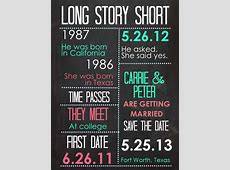 Love Story Infographic Wedding Invitations SouthBound Bride