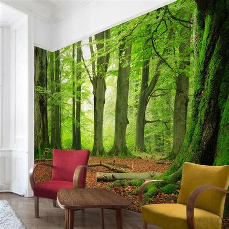 Wand Mit Fototapete Gestalten Für Eine Optische