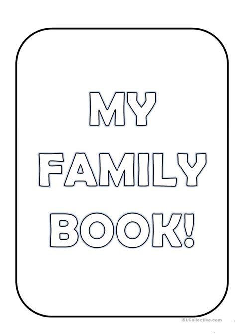 my family book worksheet free esl printable worksheets
