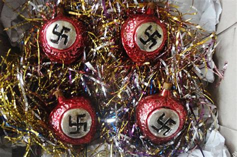 nazi christmas decorations   auction  daily star