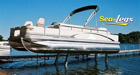 Pontoon Boat Lifts For Sale by Sea Legs Hydraulic Pontoon Boat Lifts For Sale Near