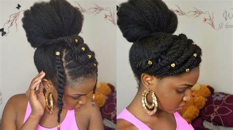 bun twists   natural hair protective style youtube