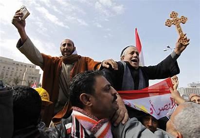 Muslim Christian Square Tahrir Cross Egypt Coptic