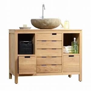 Badmöbel Holz Massiv : waschtisch waschbeckenschrank badezimmer unterschrank massiv holz teak badm bel ~ Indierocktalk.com Haus und Dekorationen
