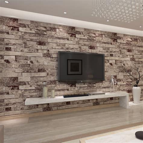 hanmero pvc vinyl modern stone  photo wallpaper living
