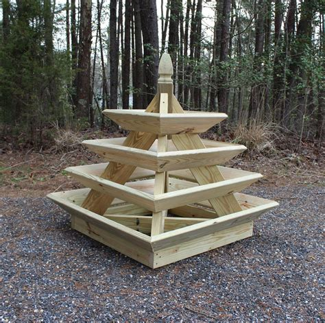 woodworking plans pyramid planter illustrated