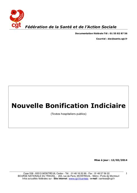 si鑒e cgt montreuil document nbi fd cgt sante avril 2014