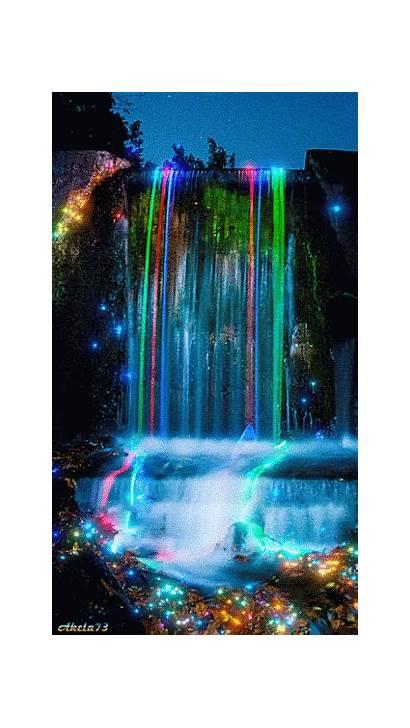 Neon Waterfall Animation Decent Scraps Code