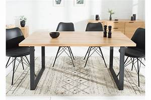 Table A Manger Industrielle : table manger industrielle acier et bois 160 cm cbc meubles ~ Melissatoandfro.com Idées de Décoration