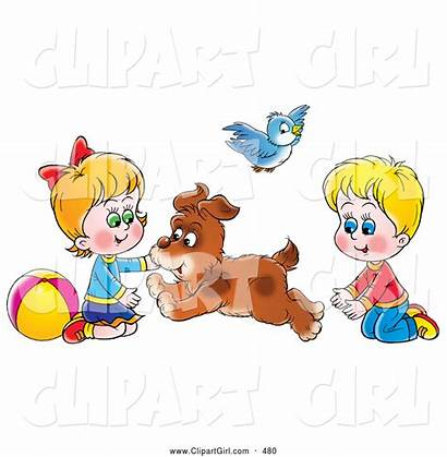 Between Brother Sister Clipart Clip Dog Forth
