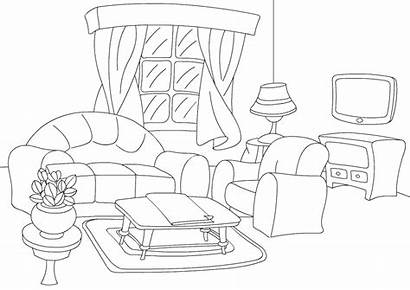 Coloring Living Colouring Sheet Pages Printable Chair
