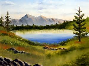 Lake Landscape Oil Painting