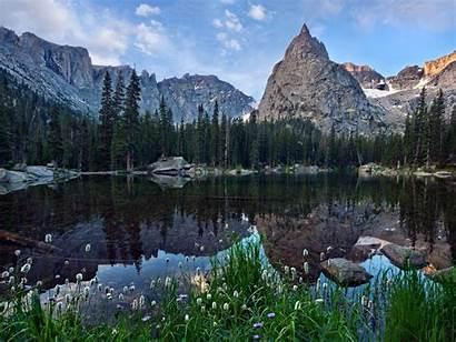 Wilderness Lake Crater Indian Landscape Mirror Peaks