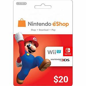 Carte Prpaye Nintendo EShop 20 US Code Numrique
